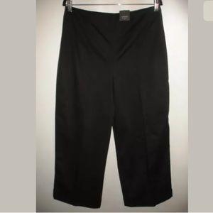 Club Monaco Black Stretch Cotton Wide Capri Pants